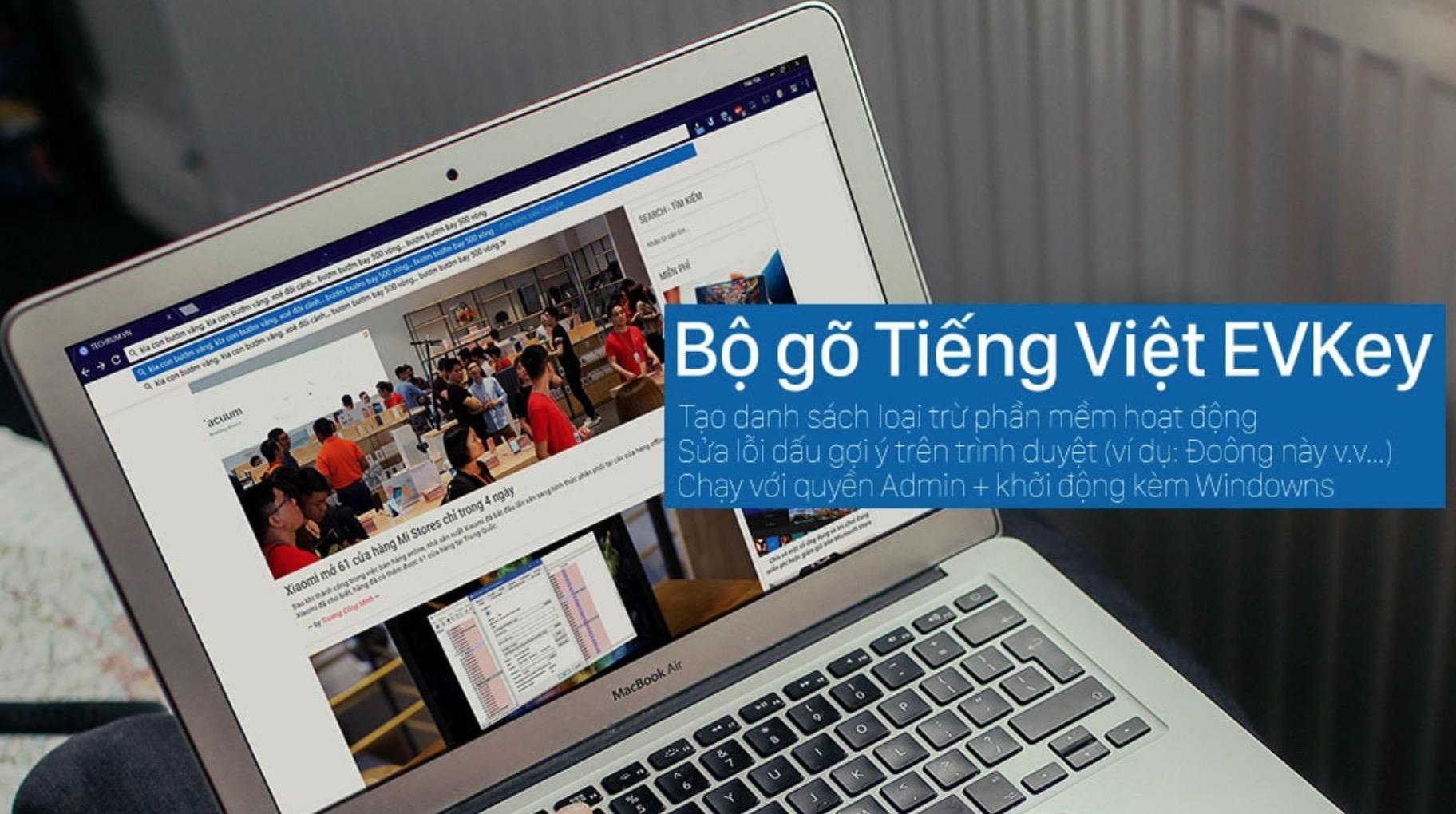 EVKey: Bộ gõ Tiếng Việt giúp khắc phục lỗi dấu của gợi ý trên Trình duyệt, Excel v.v...