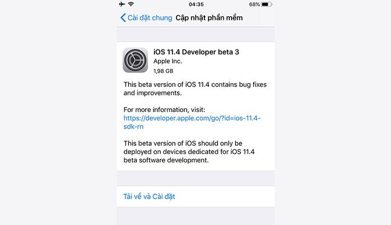 Apple chính thức phát hành iOS 11.4 Developer beta 3, khôi phục lại Airplay 2 và tin nhắn trên iCloud