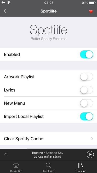 Chia sẻ ứng dụng Spotify Mod, tự chuyển tài khoản thường sang Premium miễn phí dành cho iPhone, iPad