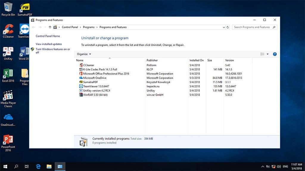 tenovi net - Chia sẻ bộ cài đặt Windows 10 Pro Lite version 1803
