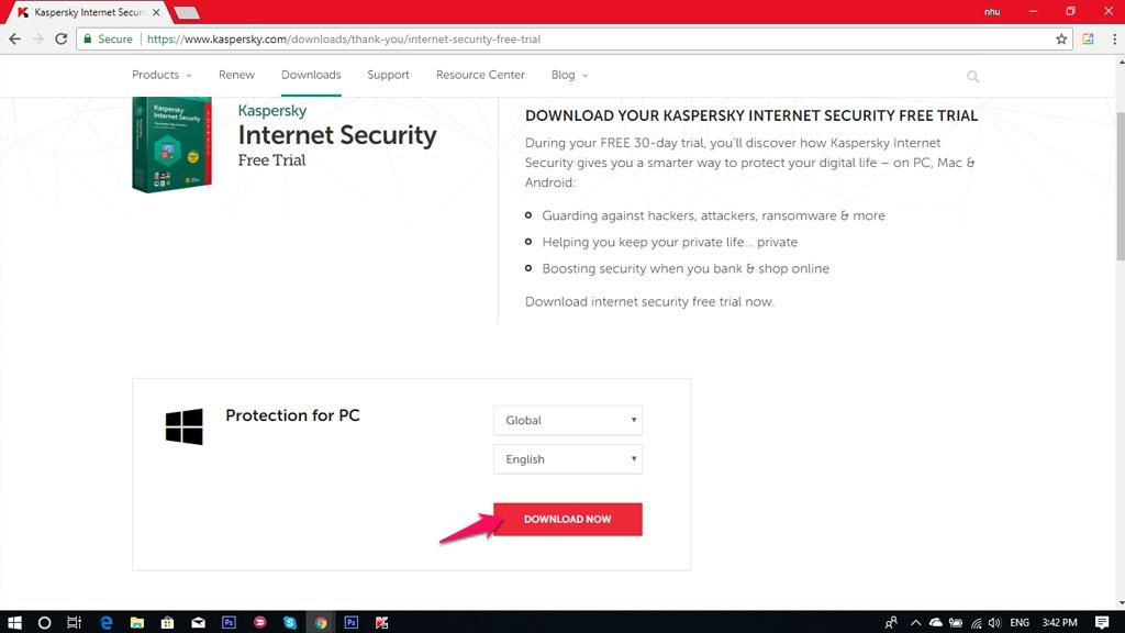 Chia sẻ key bản quyền phần mềm diệt Virus Kaspersky Internet Security 2018 sử dụng đến tháng 11/2019