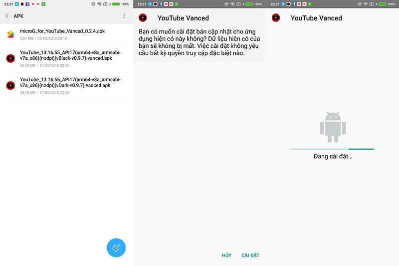 Chia sẻ bộ cài đặt YouTube Vanced bản không cần root, chặn quảng cáo và phát nhạc trong nền