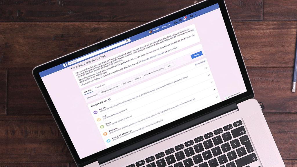 Facebook cập nhật Tải xuống bản sao dữ liệu, chi tiết hơn, có thể lựa chọn định dạng file tải về