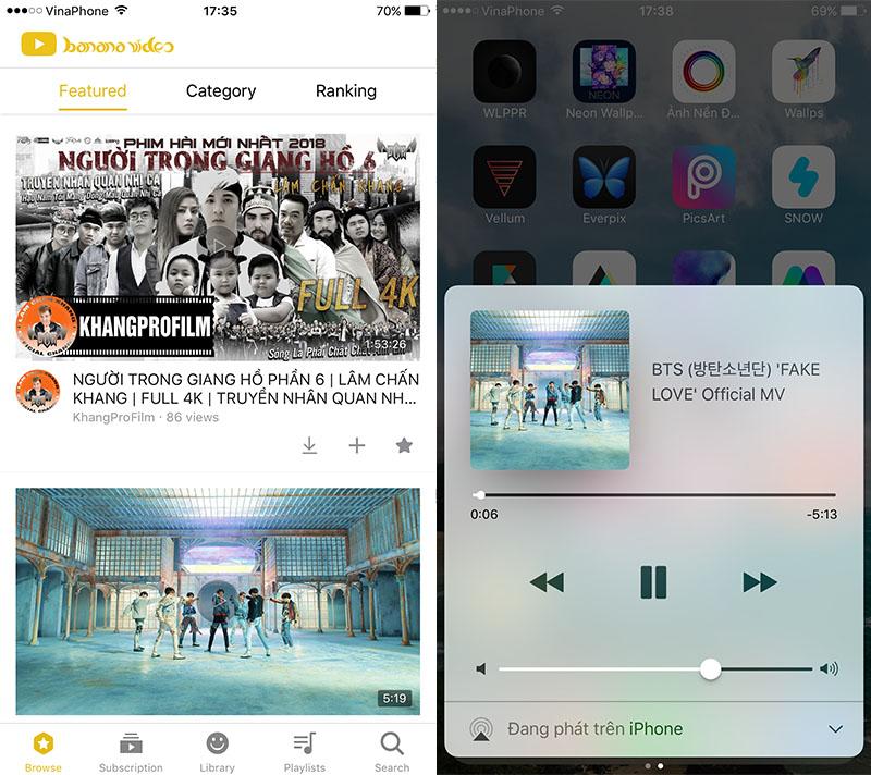 BananaVideo: Ứng dụng tương tự YouTube ++ với tính năng tải và phát nhạc trong nền trên App Store