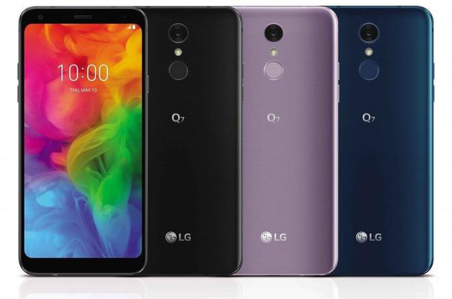 LG trình làng bộ ba smartphone tầm trung LG Q7, Q7+ và Q7α, màn hình 18:9, có chống nước chuẩn IP68 và hỗ trợ sạc nhanh