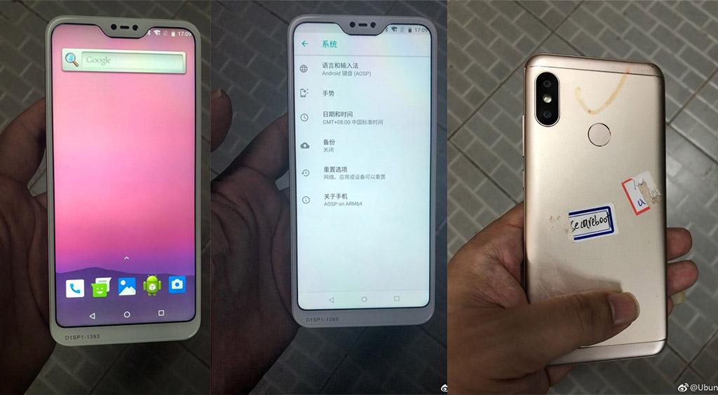 Rò rỉ hình ảnh của Xiaomi Redmi 6 với camera kép đặt dọc, có màn hình tai thỏ