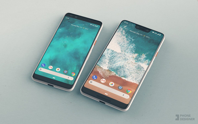 Google xác nhận Pixel 3 XL sẽ có thiết kế tai thỏ giống iPhone X, được sản xuất bởi Foxconn