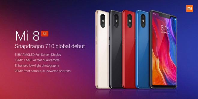 Xiaomi Mi 8 SE chính thức được trìn làng với chip Snapdragon 710, 6GB RAM, giá khoảng 6,3 triệu