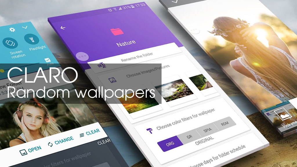 CLARO Random Wallpaper Changer: Ứng dụng tự động thay đổi ảnh nền miễn phí cho smartphone Android