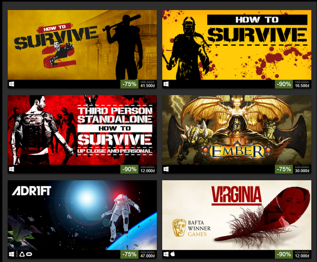 Steam đang giảm giá hàng loạt tựa game hay đến 90%, giá chỉ còn từ 12.000 VND
