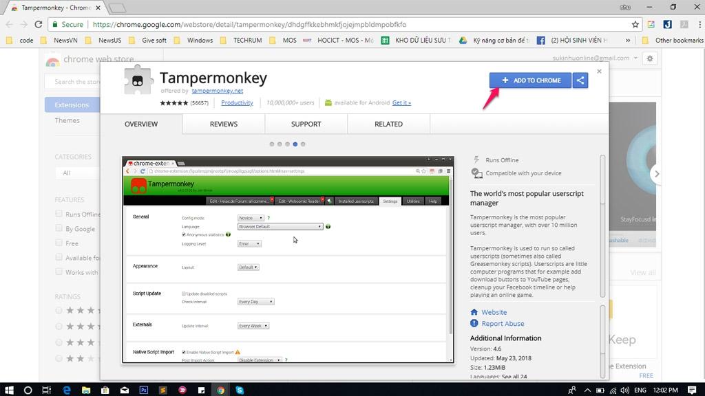 Hướng dẫn, thủ thuật, Extensions, Add on, Tampermonkey, Acount VIP HDO, Acount VIP HDViet,