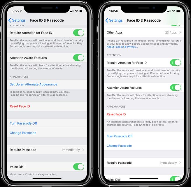 Apple âm thầm bổ sung hỗ trợ đa người dùng cho Face ID trên iOS 12, nhận dạng tối đa 2 khuôn mặt