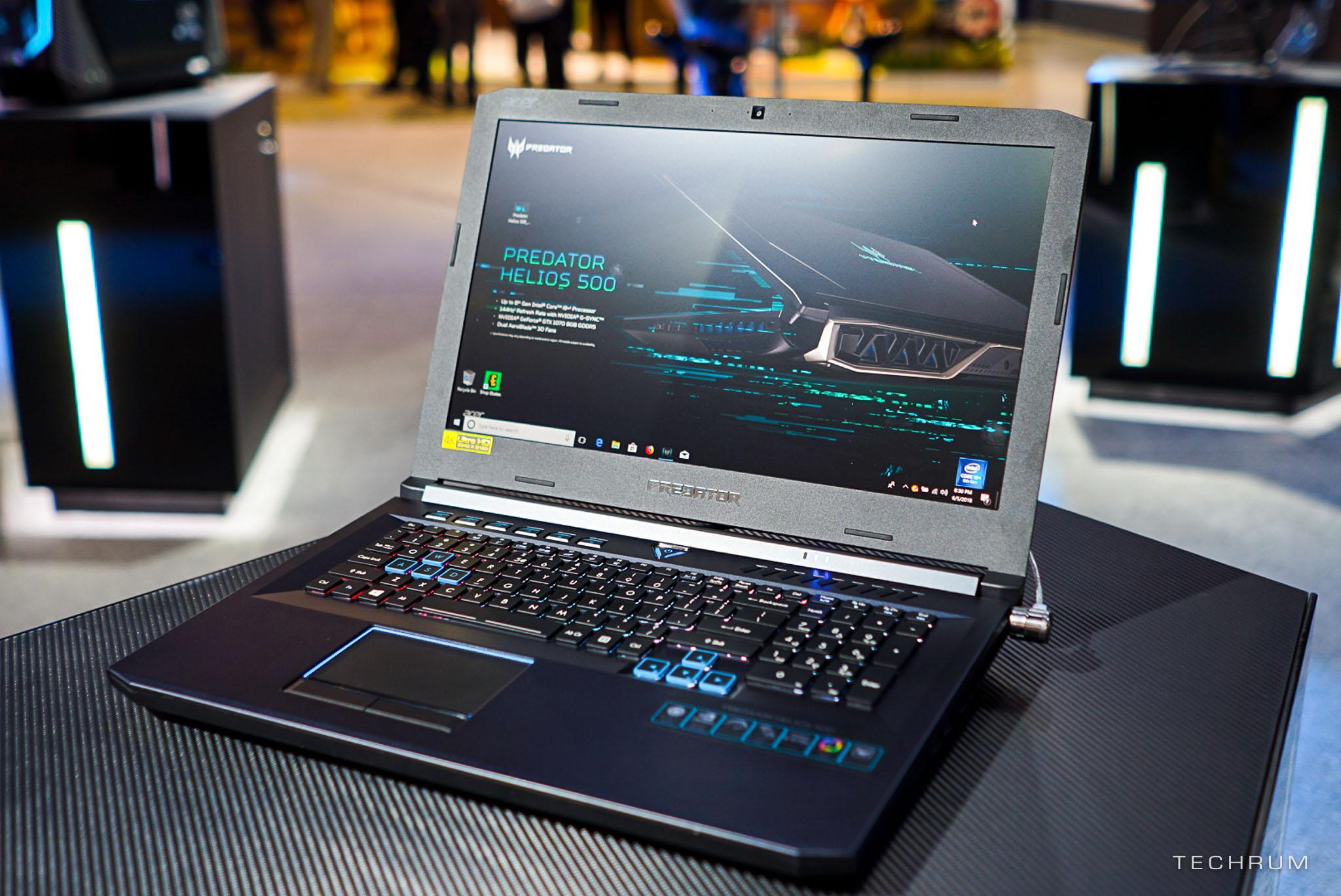[Computex 2018] Cận cảnh bộ đôi gaming laptop Predator Helios 500 & Helios 300 cấu hình khủng của Acer
