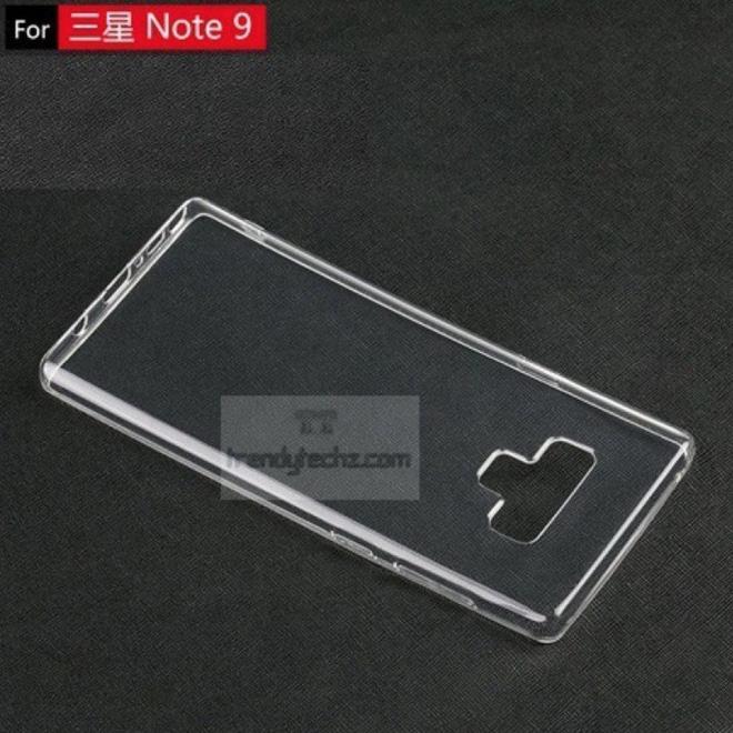 Ốp lưng Samsung Galaxy Note9 cho thấy vị trí đặt cảm biến vân tay mới và một nút bấm bí ẩn