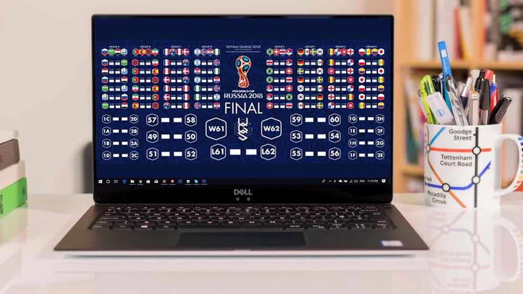 Hướng dẫn tạo hình nền tự động hiển thị kết quả World Cup 2018 cho PC