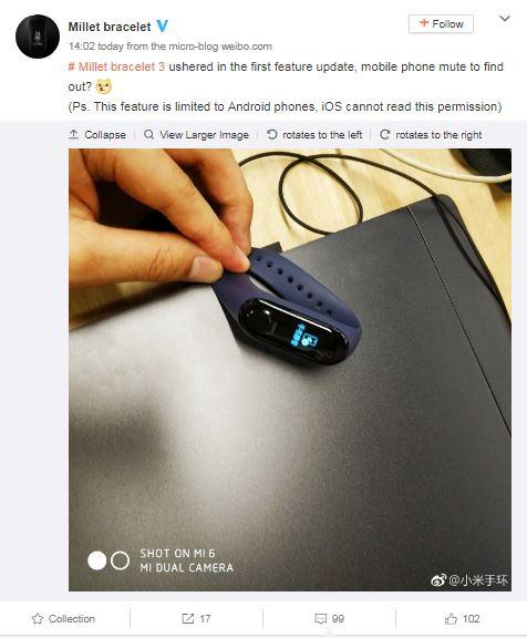 Xiaomi phát hành bản cập nhật đầu tiên cho Mi Band 3, bổ sung thêm tính năng mới