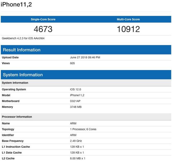 Lộ diện kết quả benchmark đầu tiên của iPhone X Plus: hiệu năng tuyệt đỉnh, vượt xa máy Android hiện tại