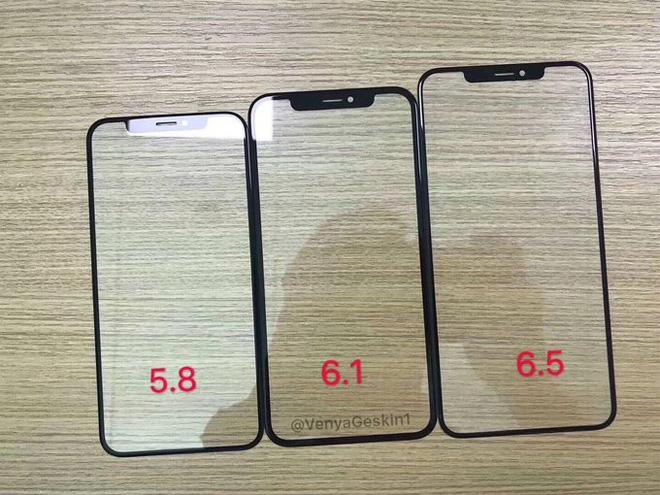 Lộ kính màn hình bộ ba iPhone 2018, iPhone LCD 6.1 inch có viền mỏng ấn tượng