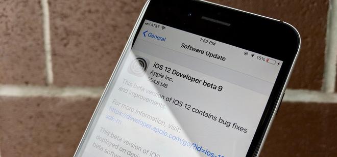 Apple phát hành iOS 12 Beta 9: Tiếp tục sửa các lỗi còn tồn đọng trước khi phát hành chính thức