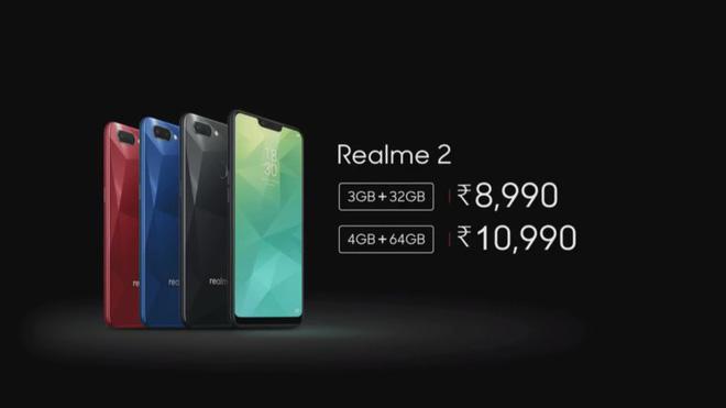 Cũng như Xiaomi, Oppo cũng ra mắt thương hiệu con với sản phẩm Realme 2, Snapdragon 450, camera kép, giá từ 2,9 triệu