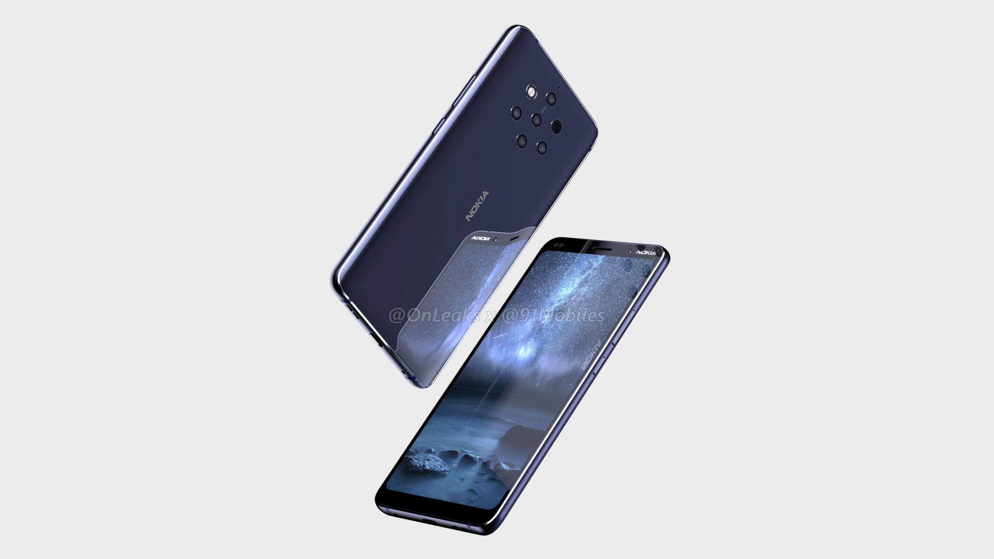 Nokia 9 xuất hiện rõ nét thông qua video và ảnh render với 5 camera sau, màn hình không tai thỏ