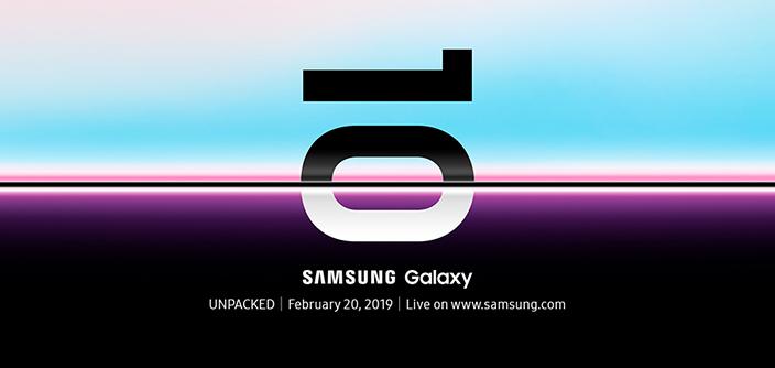 Samsung gửi thư mời sự kiện Unpacked sẽ công bố Galaxy S10 vào ngày 20/2/2019