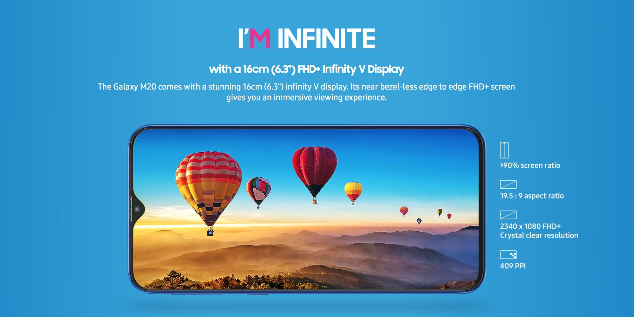 Samsung ra mắt Galaxy M10 và M20: Màn hình Infinity-V, camera kép góc rộng, giá từ 2.6 triệu