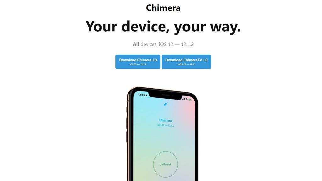 Chimera: công cụ hỗ trợ jailbreak cho tất cả thiết bị chạy nền iOS 12 của Electra Team phát hành và thay thế Cydia bằng Sileo