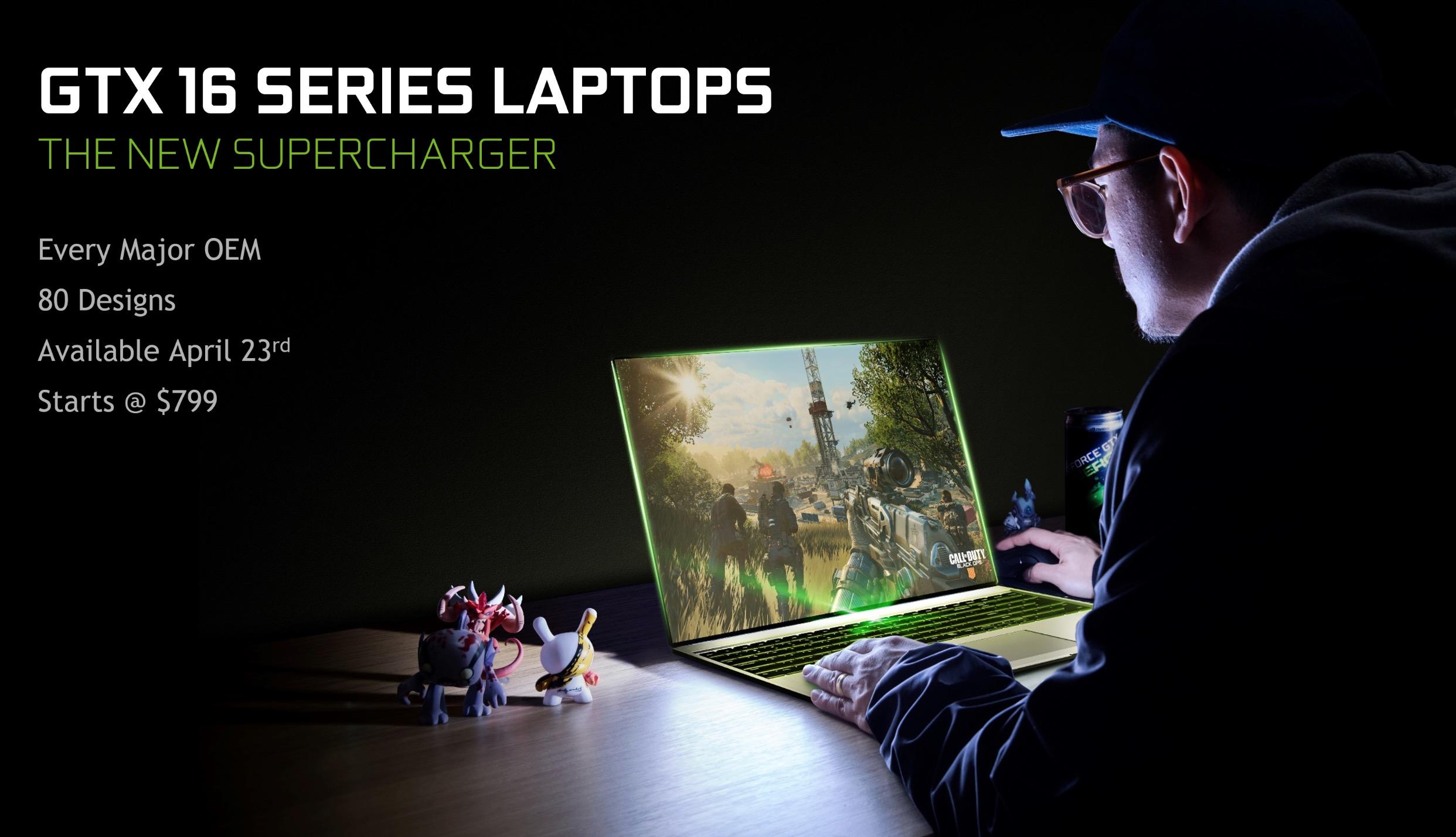 NVIDIA công bố sẽ có 80 mẫu laptop sử dụng card màn hình GTX 1650 và 1660 Ti mới