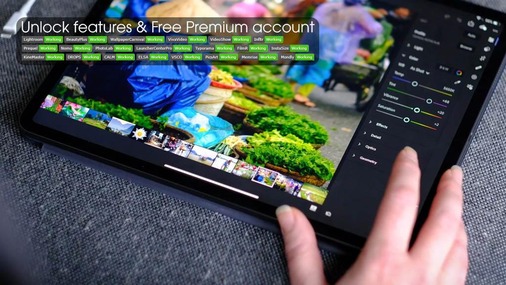 Hướng dẫn mở khóa tính năng và kích hoạt tài khoản Premium miễn phí trên Lightroom, BeautyPlus, PicsArt, Infltr, VSCO v.v...