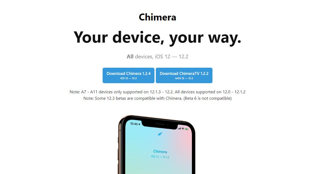 Chimera nhận bản cập nhật mới, hỗ trợ jailbreak 12.1.3 - 12.2 (12.3 beta) cho các thiết bị sử dụng chip A7 - A11