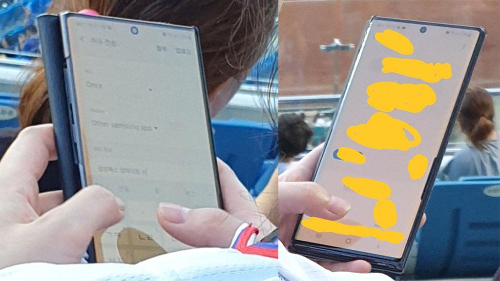 Galaxy Note 10 và Galaxy Watch Active 2 xuất hiện trên tay người dùng tại sân vận động Hàn Quốc