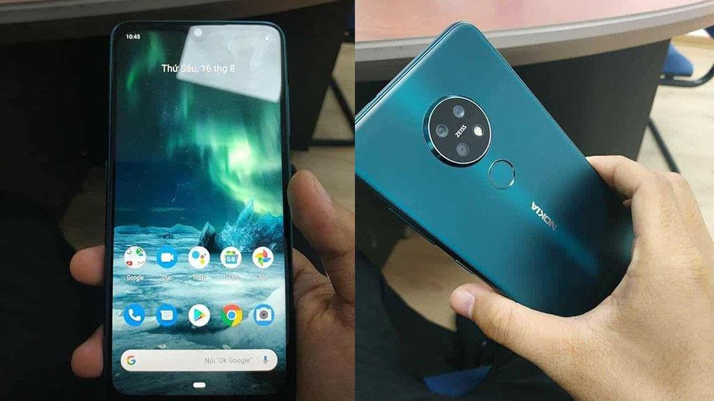Nokia 7.2 lộ hình ảnh trên tay tại Việt Nam với cụm 3 camera hình tròn, màn hình giọt nước
