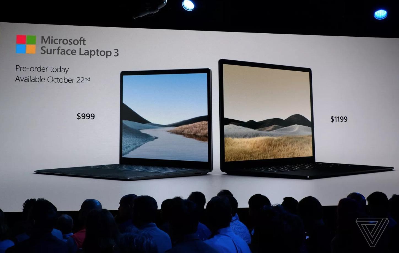 Surface Laptop 3 ra mắt với 2 phiên bản màn hình 13 inch và 15 inch đã có USB Type-C, giá từ 999 USD