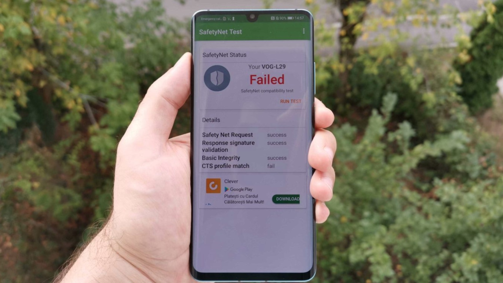 Không chỉ Huawei Mate 30 mà cả P30 Pro cũng gặp vấn đề với SafetyNet