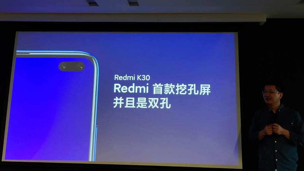 Redmi K30 sẽ sở hữu màn hình đục lỗ như trên Galaxy S10+, và hỗ trợ kết nối 5G