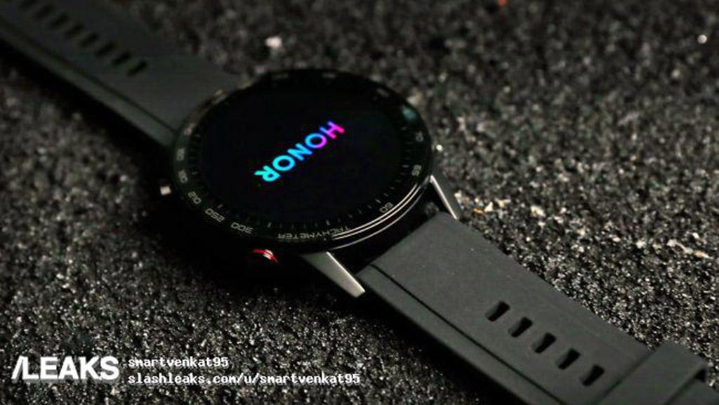 Honor Magic Watch 2 lộ hình ảnh thực tế với thiết kế mặt đồng hồ tròn cùng dây đeo silicon