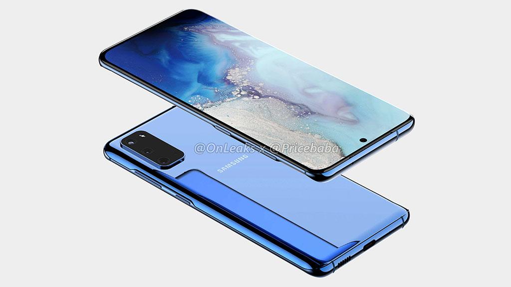 Ảnh render Galaxy S11e: Thiết kế tương tự Galaxy S11 nhưng chỉ có 3 camera chính