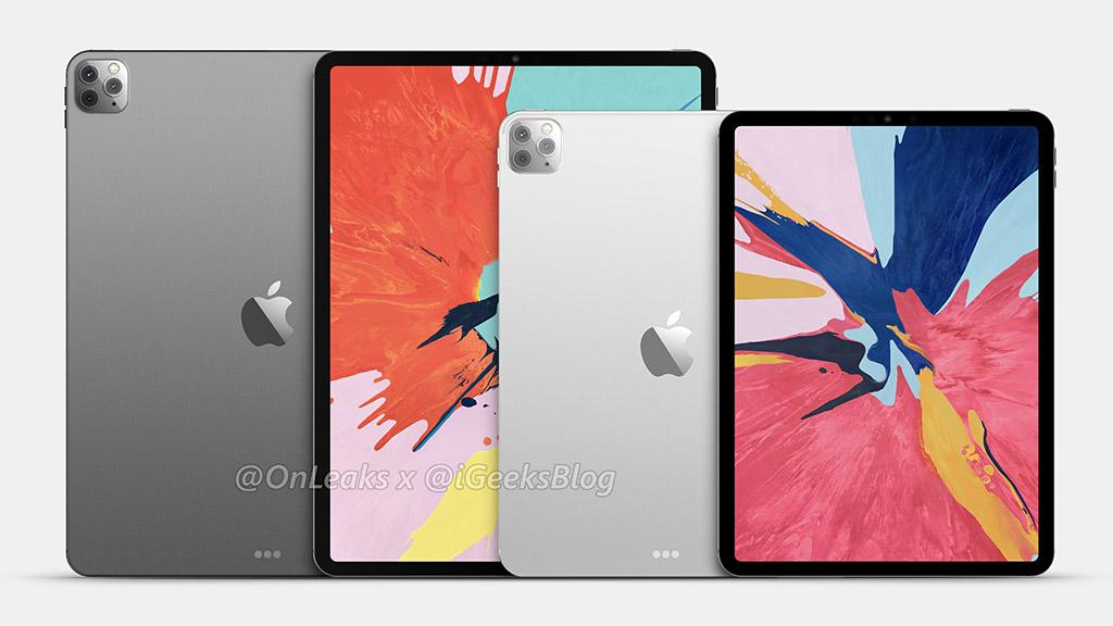 iPad Pro 2020 lộ ảnh render với thiết kế 3 camera tương tự iPhone 11 Pro