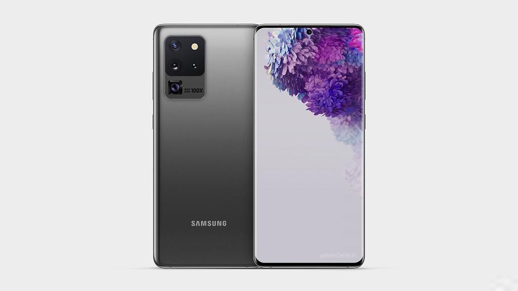 Galaxy S20 Ultra lộ hình ảnh render với camera zoom 100x