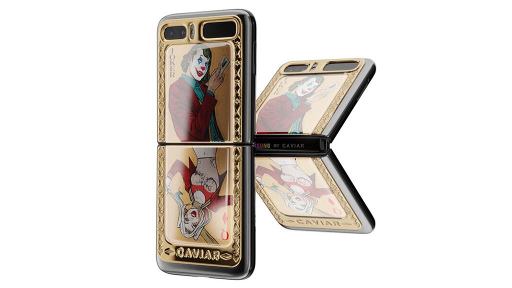 Caviar ra mắt phiên bản Galaxy Z Flip mạ vàng Joker/Harley Quinn giá 120 triệu