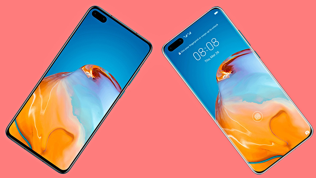Huawei P40 và P40 Pro lộ ảnh mặt trước với camera kép đục lỗ ''siêu to khổng lồ''