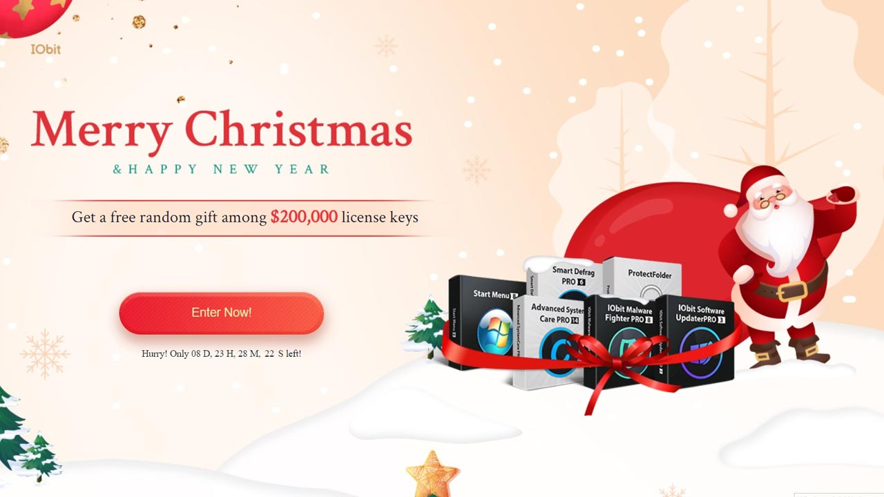 IOBIT tặng bản quyền phần mềm Advanced SystemCare 14, Protected Folder, và nhiều công cụ hữu ích khác trị giá 400$ nhân dịp Noel