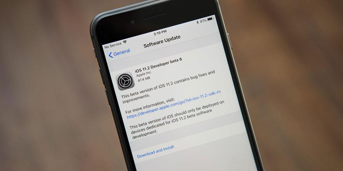 Apple phát hành iOS 11.2 Beta 6, có thể là phiên bản Beta cuối cùng trước khi có iOS 11.2 chính thức