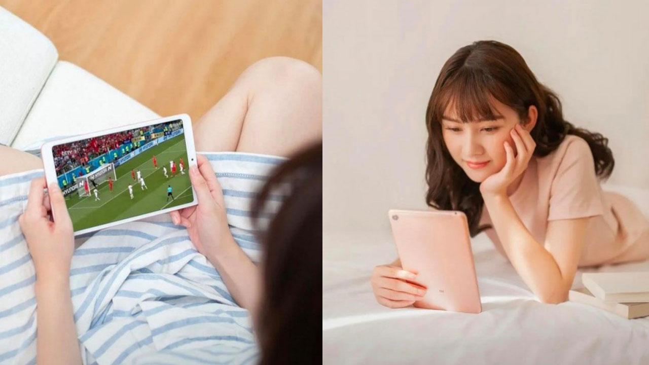 Xiaomi Mi Pad 4 lộ ảnh quảng cáo với viền mỏng, cảm biến vân tay và nút home đã bị loại bỏ