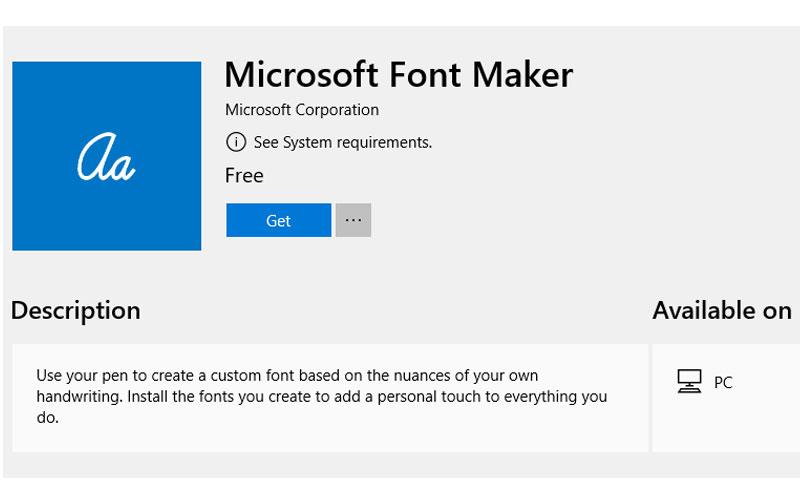 Font Maker: Ứng dụng giúp bạn tự tạo font chữ cho riêng mình trên Windows 10
