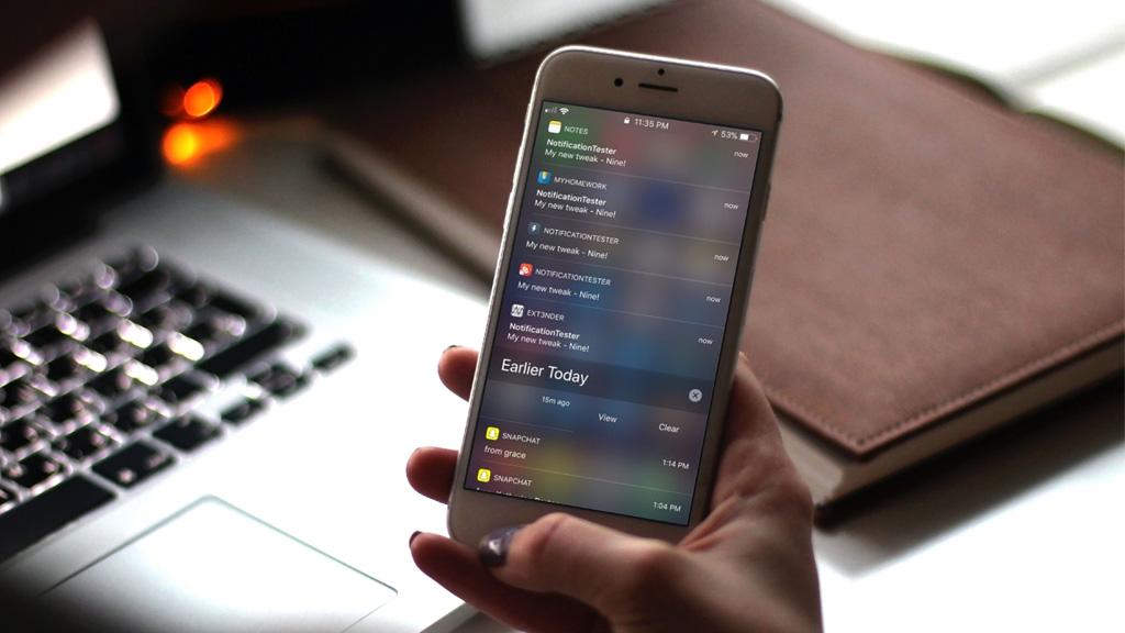 Hướng dẫn giao diện thông báo từ iOS 9 lên iOS 11 dành cho thiết bị đã jailbreak