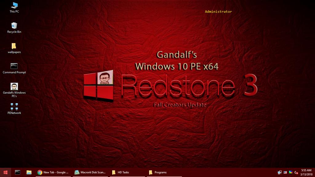Hướng dẫn tạo USB Boot để giải quyết sự cố máy tính với Gandalf's Windows 10 PE