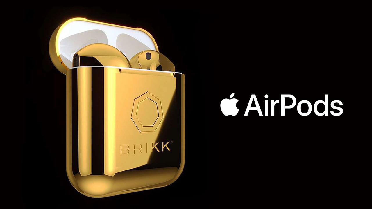 Xuất hiện mẫu tai nghe AirPods cực sang chảnh: Mạ vàng 2 lớp, đính kim cương 2-carat, giá đắt gấp 10 lần iPhone X