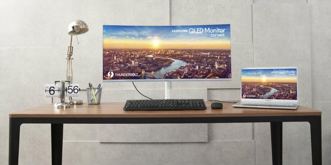 Trước thềm IFA, Samsung bất ngờ giới thiệu màn hình cong QLED Quantum Dot sử dụng cổng kết nối Thunderbolt 3